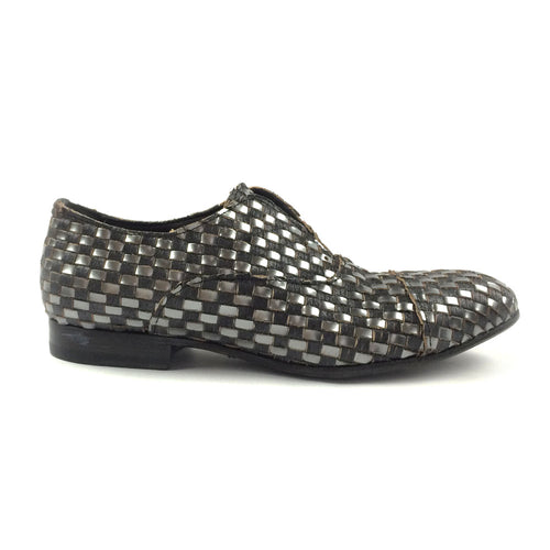 Silver/Coal Interlaced Loafer