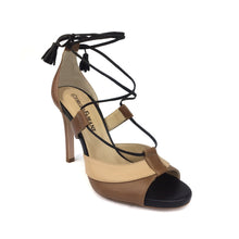 Lace-Up High Heel Sandal