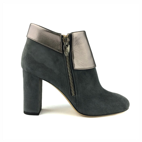 Suede Metal Ankle Boots