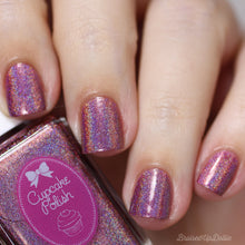 Cinnamon - mauve red holographic nail polish by Cupcake Polish
