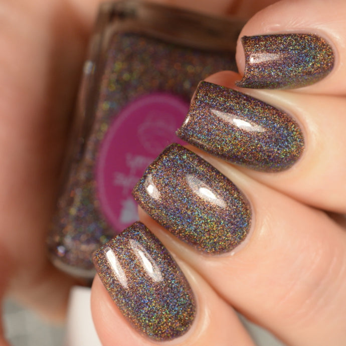 Frankincense - brown holographic nail polish by Cupcake Polish