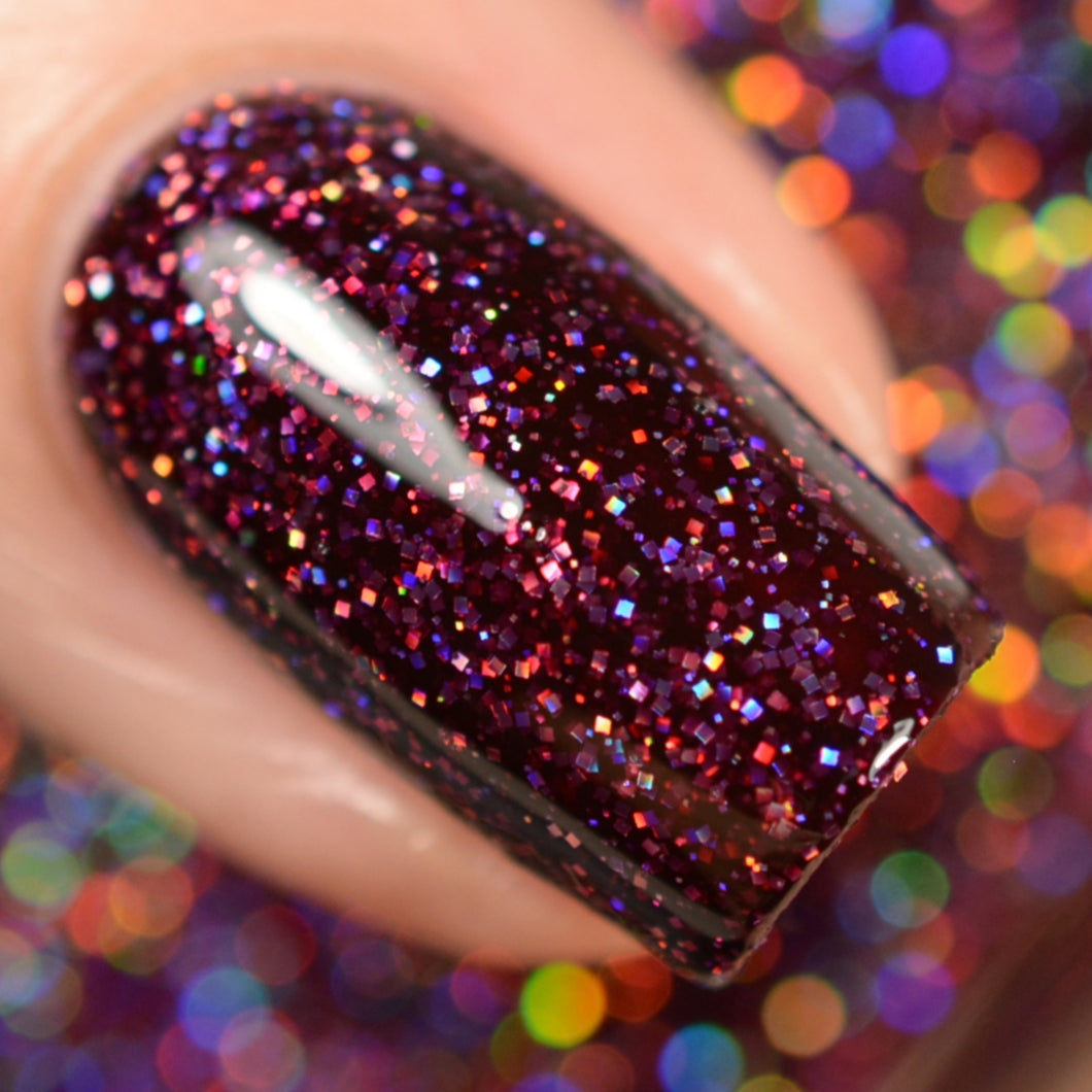 Garnet Holographic Glitter Indie Nail Polish By Cupcake Polish