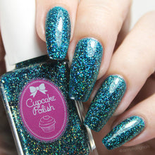 Cupcake Polish Blue Tourmaline - Teal Holographic Indie Nail Polish