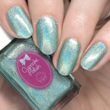 Eucalyptus - mint green holographic nail polish by Cupcake Polish