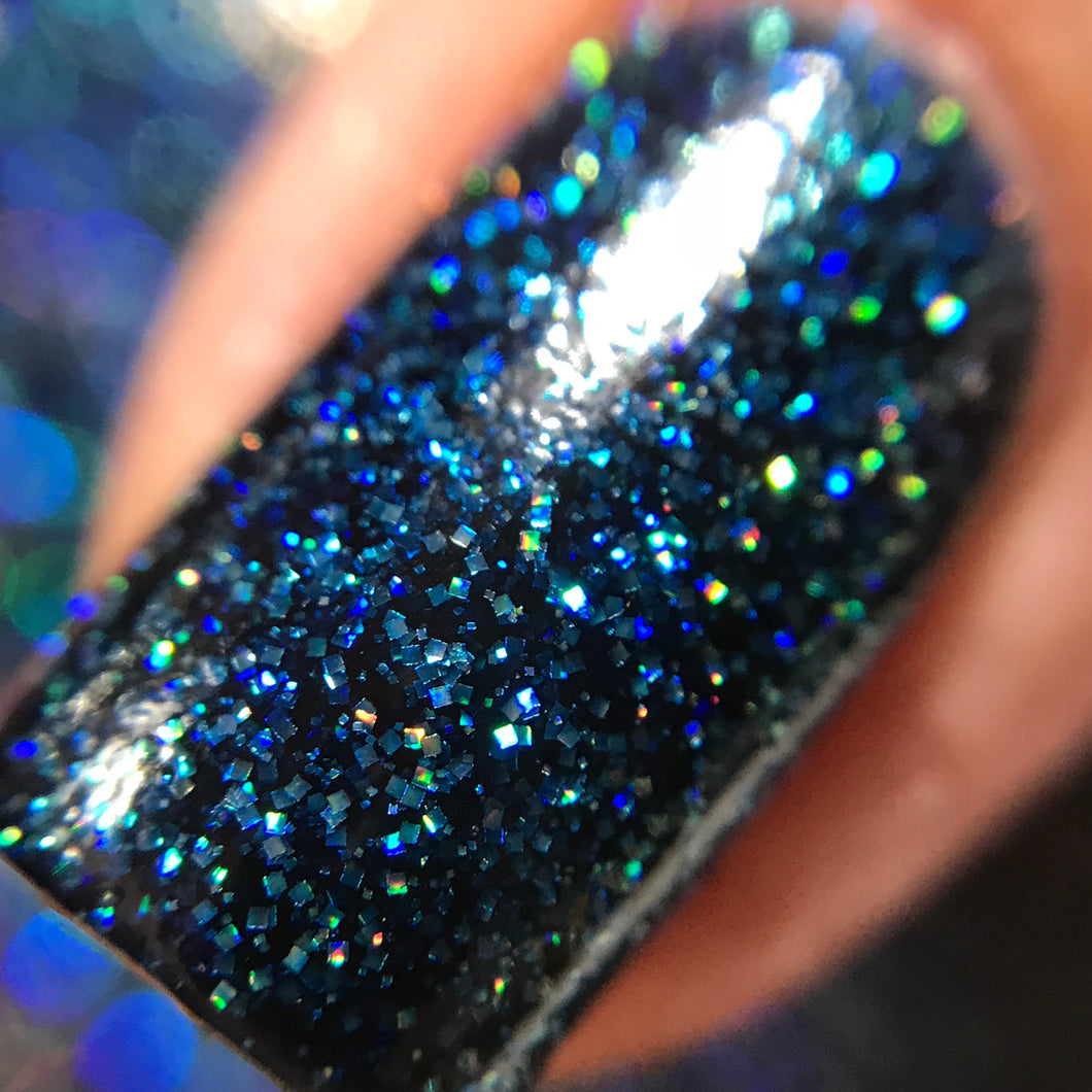 Sapphire - Holographic Glitter Indie Nail Polish by Cupcake Polish
