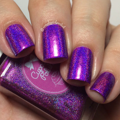 Berry Good Looking - purple holographic indie nail polish