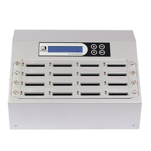 U-Reach 1 to 15 CFast Duplicator and Sanitizer - Silver Series - U-Reach eStore
