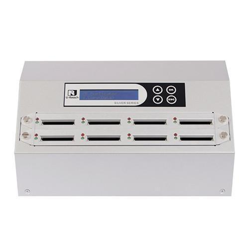U-Reach 1 to 7 CFast Duplicator and Sanitizer - Silver Series - U-Reach eStore