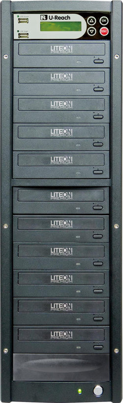 U-Reach 1 to 10 Multimedia USB/DVD Duplicator - U-Reach eStore