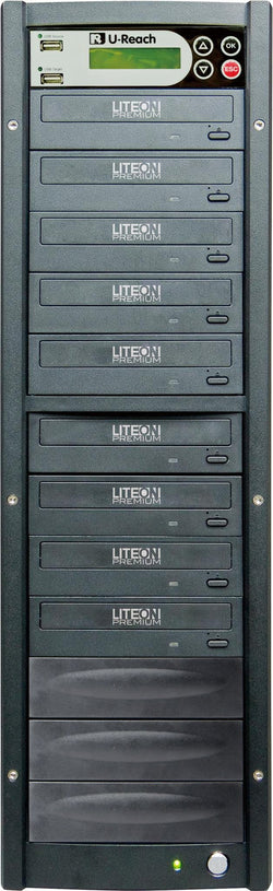 U-Reach 1 to 8 Multimedia USB/DVD Duplicator - U-Reach eStore