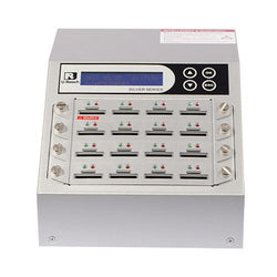 U-Reach 1 to 15 SD/MicroSD Card Duplicator and Sanitizer - Silver Series - U-Reach eStore