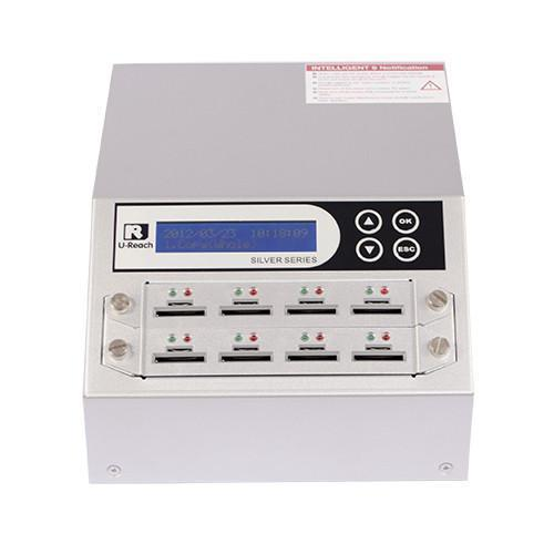 U-Reach 1 to 7 SD/MicroSD Card Duplicator and Sanitizer - Silver Series - U-Reach eStore