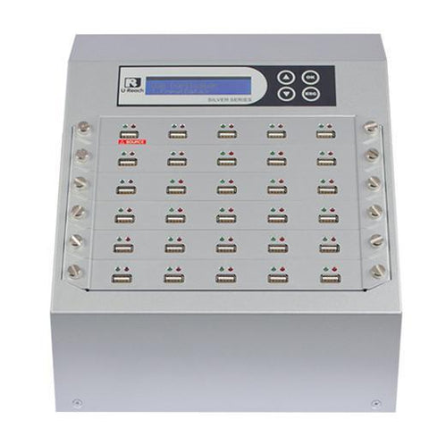 U-Reach 1 to 29 USB Duplicator and Sanitizer - Silver Series - U-Reach eStore