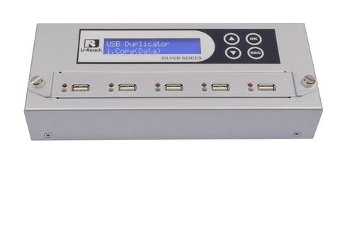 U-Reach 1 to 4 USB Duplicator and Sanitizer - Silver Series - U-Reach eStore