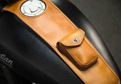 Indian Scout - Leather Motorcycle Tank Cover - Classic