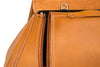 Saddlebags - Tan Leather & Tan Zipper Pull, Close up