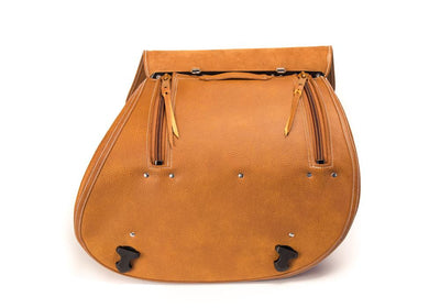 Saddlebags - Open Flap, Zipper Closure, D-ring Lock feature
