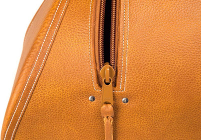 Tan Leather Saddlebags & Tan YKK Zipper, details