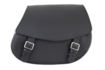 Black Leather Motorcycle Saddlebags - Classic