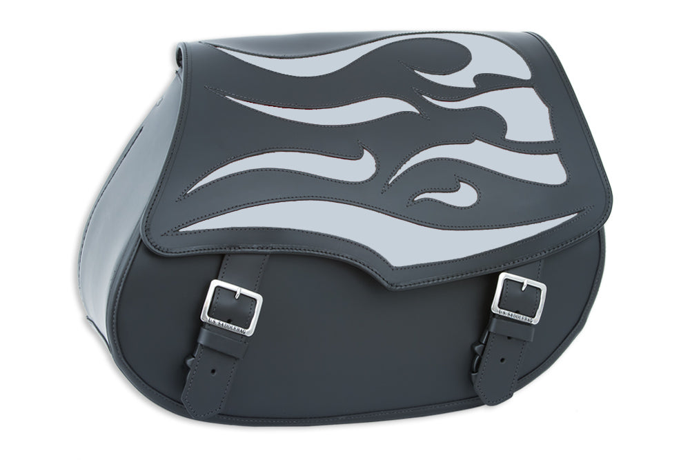 Silver Ghost Leather Motorcycle Saddlebags