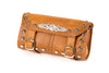 Desert Tan Leather Motorcycle Tool Bag - Studds & Concho