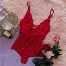 Criss Cross Lacy Teddy - Red