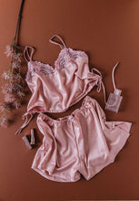 Satin Shorts - Blush
