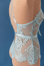 Eyelash Lace Teddy - Blue - Shawn johnson east