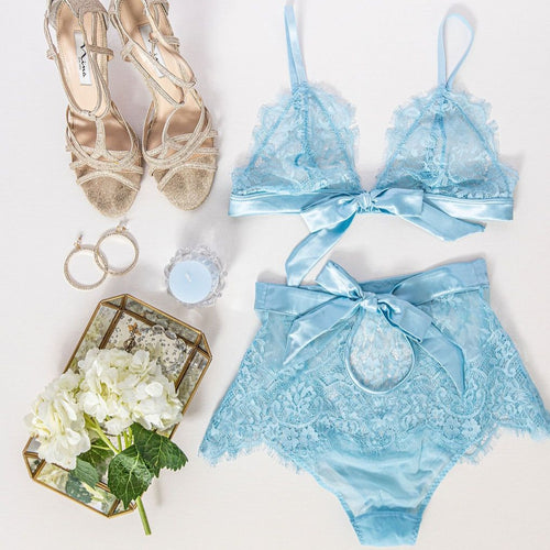 Eyelash Lace Bralette - Blue - Shawn Johnson East