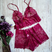 Lacy High Waist Set - Ruby - Plus Size