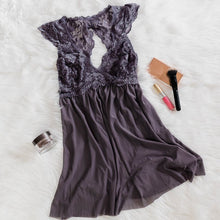 Lacy Back Babydoll - Dusty Plum