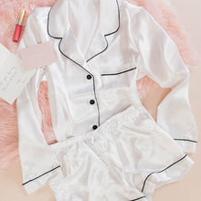 Satin Pajama Set - White