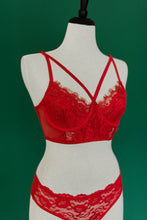 Lace Eyelash Lace Set - Red - Plus Size