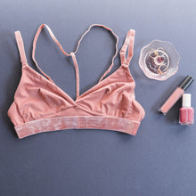 Strappy Triangle Bralette - Rose