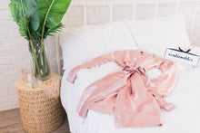 Satin Robe - Rose Gold - Plus Size