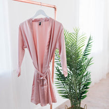 satin robe rose gold plus size