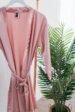 satin robe rose gold