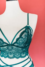 Lacy Caged Bralette - Emerald