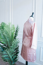 Satin Robe - Rose Gold