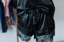 Satin Shorts & Cami Set - Black