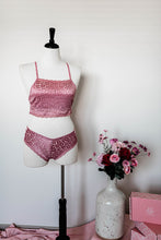 Strappy Floral Lace Panty - Pink
