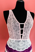 Lacy Strappy Teddy - Blush - Plus Size