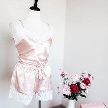 Satin Shorts & Cami Set - Blush