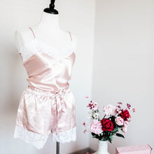 Satin Shorts & Cami Set - Blush - Plus Size