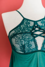 Criss Cross Babydoll - Emerald