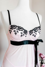 Embroidered Padded Babydoll - Blush