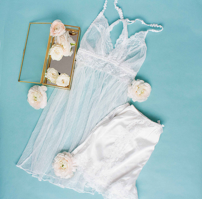 Sheer Lacy Babydoll - Ivory