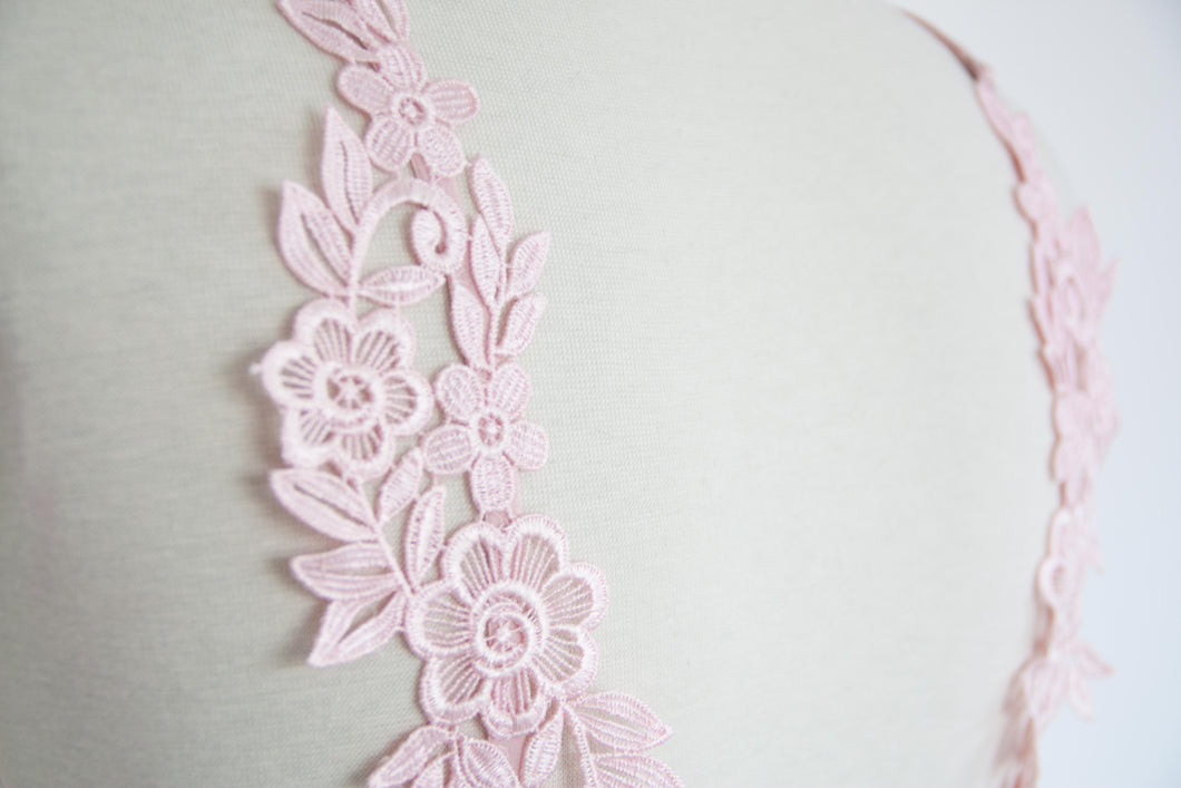Padded lacy applique bralette mentionables