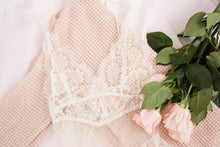 Sheer Eyelash Lace Teddy - Ivory