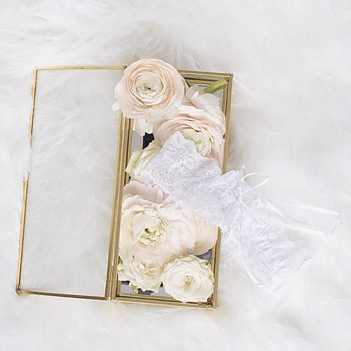 Lace Garter - White